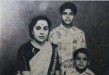 Amitabh Bachchan and Mother teji