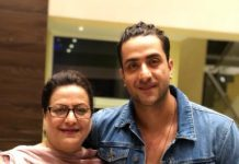 Aly Goni and his mother Rubi