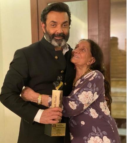 Boby deol and Prakash Kaur