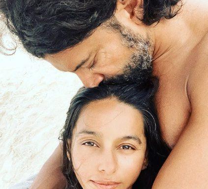 Farhan Akhtar with wife shivani