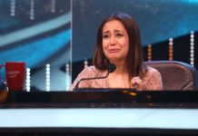 Neha Kakkar on Indian Idol Set
