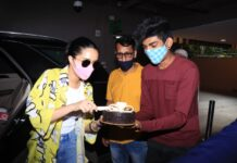 Shraddha Kapoor celebrate her Birthday with media at airport. She is arriving in Mumbai from Maldives.