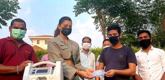 Urvashi routela donate oxygen concentrators