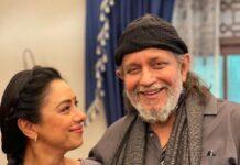 Rupali Ganguli With Mithun Da