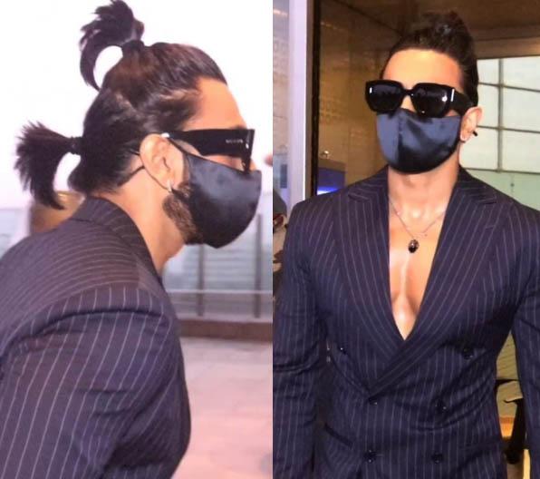 Ranveer Singh New ponytail